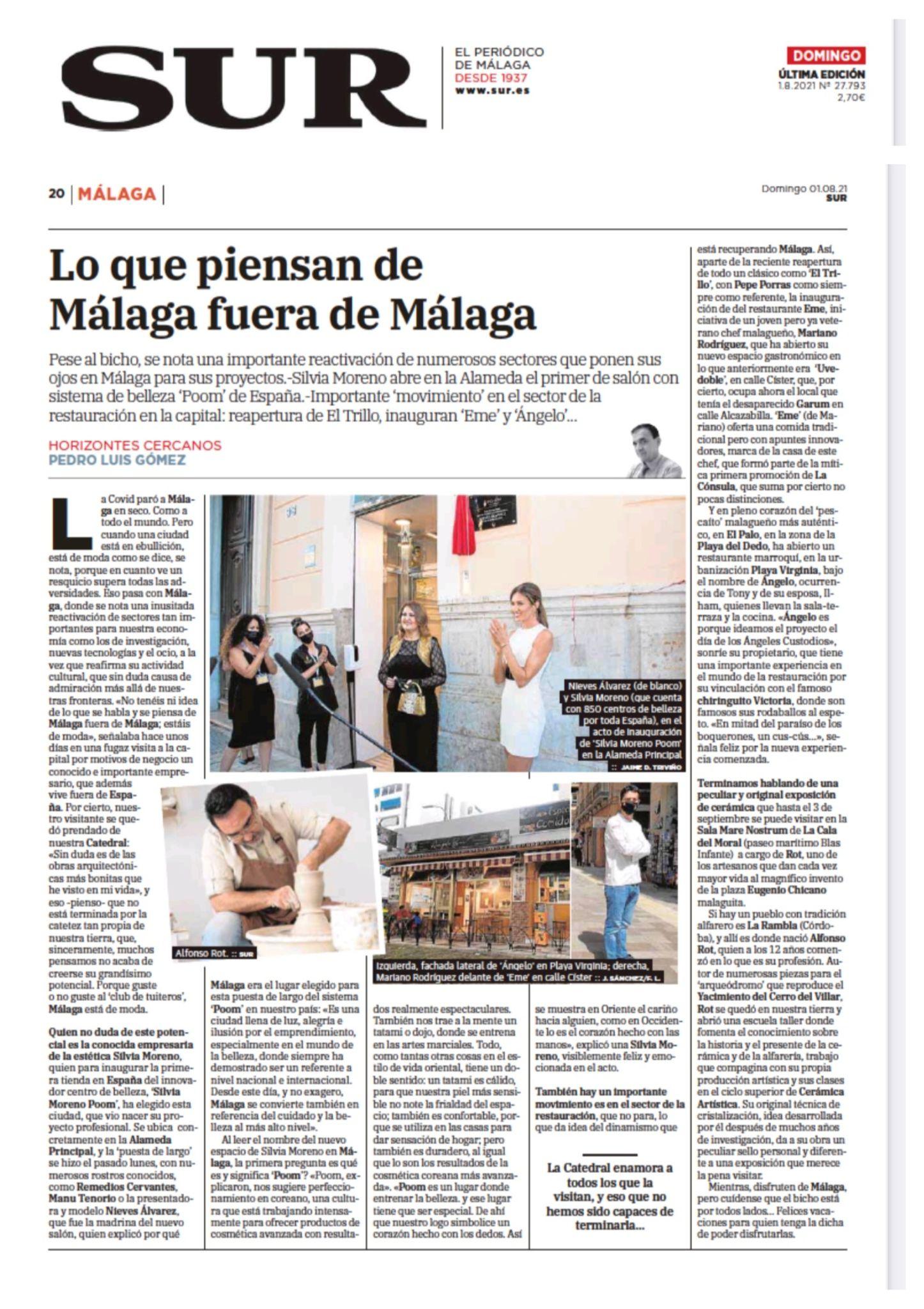Silvia Moreno Poom en Diario Sur